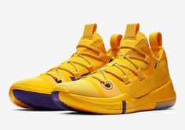 Top Qualidade Kobe AD Lakers sapatos de ouro vendas quentes Kobe Bryant New basquete sapatos frete grátis Com Caixa US7-US12 de