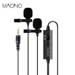 2019 mikrofon für dslr kamera MAONO AU-200 Lavalier Mikrofon Audio Video Telefon Revers Mikrofon Kondensator Mic Recorder für iPhone X Canon Nikon DSLR Kamera günstig mikrofon für dslr kamera
