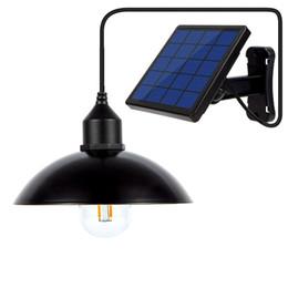 pendentif suspendu Promotion Lumière solaire pendant de jardin de lampe rétro de lustre d'ampoule solaire avec la lampe solaire de la corde 16Ft suspendue pour le café extérieur