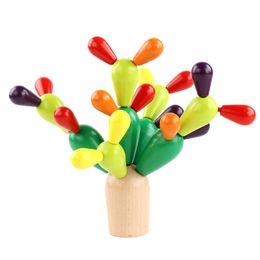 casa de bonecas vintage atacado Desconto Ui yi crianças de madeira blocos de pilha do bebê mãos splicing cactus cactus ball puzzle multifuncional desmontar e montar brinquedos