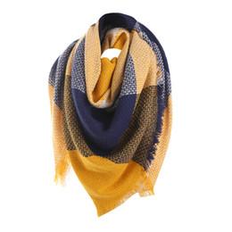Argentina Bufanda de invierno de las mujeres bufanda de cachemira Bufandas de tela escocesa Triángulo manta mantones y bufandas # 1120 A # 487 Suministro