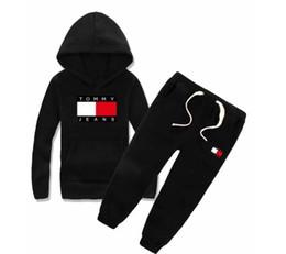 Marca infantil con capucha y pantalones. Traje de algodón para niños. Bebé niño, niña, diseñador, traje, traje deportivo, 2 piezas / juego. desde fabricantes