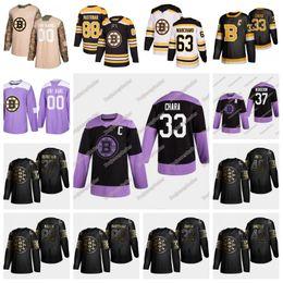 Chara de hockey maillot en Ligne-Boston Bruins 2019 Golden Edition Brad Marchand Pastrnak Johansson Krejci Tuukka Rask Miller Patrice Zdeno Chara Charlie Coyle Jersey