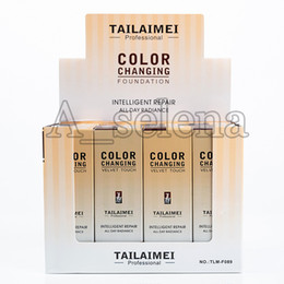 Контактный жидкий фундамент онлайн-Популярный макияж лица TLM Liquid Foundation Velvet Touch Color Changing Foundation Concealer All Day Radiance Intelligent Repair Concealer