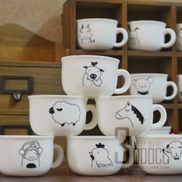 Argentina Tazas de cerámica creativas de la historieta de la taza de cerámica del zodiaco de 120ML de una capa con la taza de café de la taza de la leche de la manija supplier zodiac ceramic Suministro