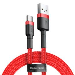 cargador movil s3 Rebajas Marca de carga rápida USB 3.0 Tipo C cable trenzado de nylon de alta densidad de carga del cable de datos cable de sincronización para Samsung S10 S9 HUAWEI P30 Xiaomi OPPO