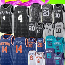2019 трикотажные изделия белый размер NCAA Demar 10 DeRozan Derrick 4 Университета Белого Джерси Kemba 15 Walker Allonzo 14 Trier 20 Баскетбольные майки Knox размер S-XXL