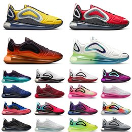 Обувь для градиента онлайн-nike air max 720 undercover x 720 men women running shoes Bubble Pack Beture Midnight Navy Flaming Hot Gradient Wolf Grey mens chaussures trainer sneakers