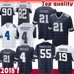 ace10236e Dallas Cowboys 19 Amari Cooper 55 Leighton Vander Esch Jersey 4 Dak  Prescott 21 Ezekiel Elliott 90 DeMarcus Lawrence 22 Emmitt Smith 50 Lee  dallas football ...