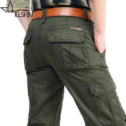 2019 militär multi baggy hose Marke Mens Fashion Military Cargo Pants Multi-Taschen Baggy Männer Hosen Freizeithosen Overalls Armee Hosen Jogger günstig militär multi baggy hose