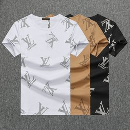 2019Spring Moda Verão Polo Mens Designer Da Marca T-shirt Bordado Tigre Lobo de Manga Curta T-shirt Juventude Dos Homens T-shirt 420 de Fornecedores de mangas cartão azul