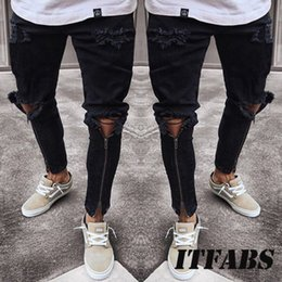 946d92e06c1c7 fear god rip jeans 2019 - Plus Size Jeans Men Fear Of God Ripped Skinny  Jeans
