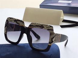 estilos de óculos populares Desconto Nova moda hot mulheres designer de óculos de sol quadrado quadro de pele de cobra top quality popular generoso estilo elegante 0484 uv400 óculos de proteção