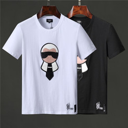 2019 logotipo de la moda de los hombres camisetas 19ss Logotipo de la moda Letra PRINT roma T-SHIRT hombre T shirts hombre mujer manga corta camiseta Tops shorts Tee ff1713 clothing logotipo de la moda de los hombres camisetas baratos