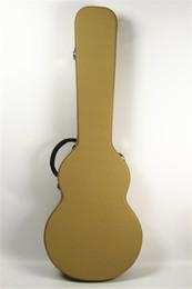 caso di chitarra marrone Sconti Vendite dirette della fabbrica di nuovo standard LP giallo croce grano tela chitarra custodia in pelle chitarra custodia marrone shippin libero