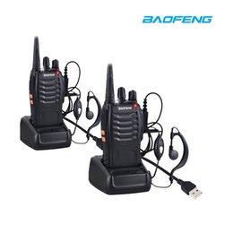 Canada 2pcs BaoFeng BF-888S Talkie-walkie USB Adaptateur De Charge Radio bidirectionnelle BF-888s UHF 400-470MHz 16CH Émetteur-récepteur Portable + Écouteur cheap earpiece two way radios Offre