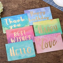 Tarjetas de felicitación para el nuevo año online-Tarjeta de felicitación de Navidad acuarela Bendición del cumpleaños Deseos BIENVENIDA tarjetas de felicitación de Año Nuevo Fiesta de Navidad 0 4CQ UU