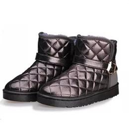 8d99459830b 2019 pisos acolchados hebilla de gamuza fenty botas de belleza Hebilla  Correa piel de la nieve