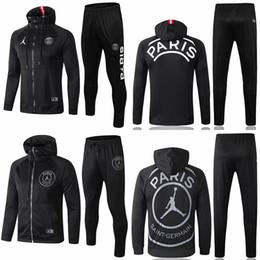 2019 camisa ozil alemanha Novo 18/19 MJ Logo Camisola Com Capuz Masculina PSG Vermelho Casual 2018 2019 Paris Saint-Germain Branco Camisola Casaco Com Capuz Em Vendas
