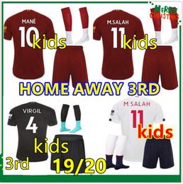 kids 2019 2020 kit da calcio salah mane maglia da calcio per bambini calcio kit 19 20 Magliette Da Calcio Set Calcio cheap xs jersey da maglia xs fornitori