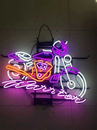 neon beer signs Promo Codes - New Star Neon Sign Factory 24X20 Inches Real Glass Neon Sign Light for Beer Bar Pub Garage Room Motorcycle TN386.