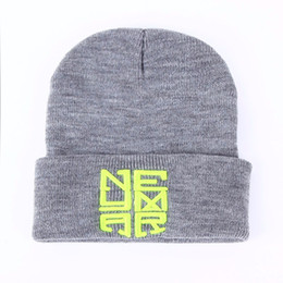 knit hat styles Coupons - 2017 New Winter Warm Knitted Caps Neymar NJR Style Men's Skullies boy winter hip hop warm hats Women's Beanies 2 color Gorros