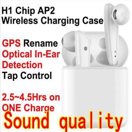 Hasta auriculares online-cambio de nombre TWS 5,0 auricular H1 chip inalámbrico Bluetooth Auriculares de Serson GPS pop-up SIRI auriculares auriculares auriculares PK i500 I12 i10 coche