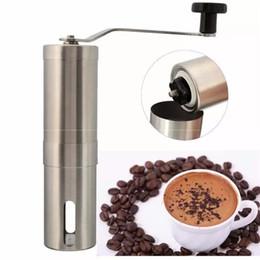 Javapresse Manuel moulin à café conique Burr Mill en acier inoxydable brossé