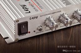 alto-falantes triangulares Desconto DHL 10PCS carro LEPY LP 268 New Mini Hi-Fi Amplificador de áudio estéreo para carros Motocicleta Barco Início 12V Speaker