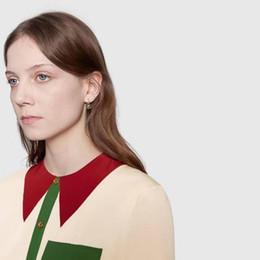 Brincos de contas vintage on-line-2019 Designer de Jóias Da Mulher Do Vintage Vermelho e Verde cores Listradas Alfabeto Brincos para Mulheres Presentes de Luxo