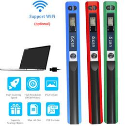 caixa de 16 bits Desconto Mini iScan Documento Imagens Scanner de Tamanho A4 JPG / PDF Formate Wifi 900 DPI de Alta Velocidade Portátil Display LCD para Reciepts Livros