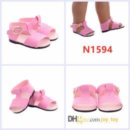 f2f165565d7 sandalias para muñecas Rebajas American girl doll sandalias 18 pulgadas  zapatos Summer Beach Flats Sandalias Zapatos