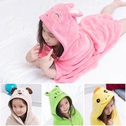 Детская одежда онлайн-Новый Ребенок мультфильм Pattern Hooded Полотенце Wrap Robe плащ Купание Плавание Халат TE889