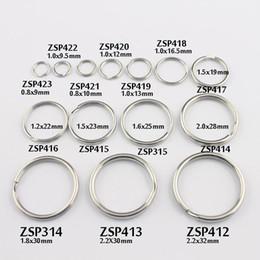 Schlüsselringring 9mm / 9.5mm- / 10mm / 12mm / 13 / 16.5-32mm aufgespaltener Doppelschleifenringedelstahl kann DIY Schmucksachen 100pcs-500pcs / lot ZSP412-ZSP423 mischen von Fabrikanten