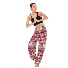 2019 nova moda popular das mulheres tailandesa elefante animal imprimir calças de yoga, lanternas, yoga vestido, calças de yoga de seda das mulheres de Fornecedores de mulheres vestido elefante impressão
