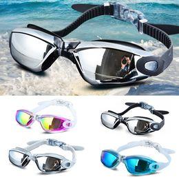Galvanotecnica UV impermeabile Anti fog Swimwear Eyewear Swim Diving Water Glasses Occhiali da nuoto regolabili Occhiali da sole da donna da