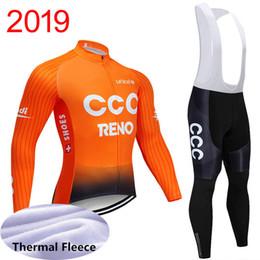 профессиональная зимняя одежда Скидка Зимний тепловой флис 2019 uci world tour pro team CCC велоспорт джерси мужские теплые с длинным рукавом велосипед майо MTB велосипед одежда Y040702