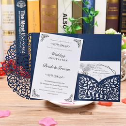 Cartões vintage da páscoa on-line-1 Peça Novo estilo de Bolso convites conjunto com RSVP Cartão, cur laser papel convites da festa do vintage para o chá de fraldas de casamento de Páscoa