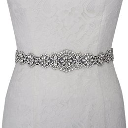 100% Gerçek Görüntü El Yapımı Diamonds Boncuk Gelin Sashes Beyaz Fildişi Kırmızı Mavi Muliti Renk Düğün Kemerler Gelinlik Abiye giyim Için nereden elastik kemer tokaları tedarikçiler