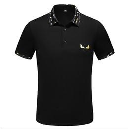 Venta de ropa de polo online-Italia Camisa Camiseta de la camiseta de diseño Top 2019 la venta caliente libre del resorte de lujo Polos Calle bordado liga Ropa para hombre de la marca Polo