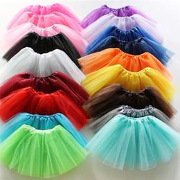 2019 trajes de burbuja Tutú de la falda del verano del niño Gauzy plisado Mini burbuja Vestidos Faldas de ballet del traje del partido A-Line Boutique Ropa Infantil 2T-8T A42504 trajes de burbuja baratos