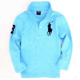 Argentina De calidad superior al por mayor de moda para niños camisas de polo del uniforme escolar de los muchachos camiseta de manga larga de algodón ropa para 2-7 años Suministro