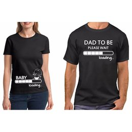 f1ce4706ee901 T Couple Clothes Pure Cotton Pregnancy Baby Loading To Be Shirt Funny  Valentine Gift For Dad Tshirt Plus Size Q190518
