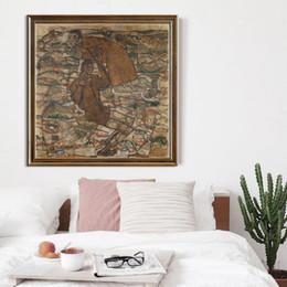 Murales floreali online-Egon Schiele Pittura a olio astratta Autunno Albero Canvas Art Print Poster Picture Parete Soggiorno Decorazione della casa Murales UnFramed