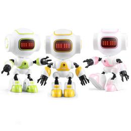 Kontrol DIY Jest Mini Akıllı Sesli Alaşım Robot Oyuncak Çocuklar Çocuklar Için RC Robot Doğum Günü Hediyeleri Mevcut nereden