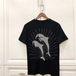 2019 chemises de dauphin top Palm Angels T-shirt Diamant Dauphin Hommes Femmes Tops Tees Meilleure Qualité Casual T-shirt Palm Angels chemises de dauphin top pas cher