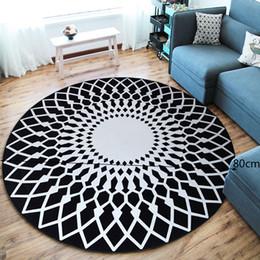 Nordic Design Tapis Ronds pour Salon Tapis Tapis Chambre Chambre Antidérapante Plancher Maison Table Brief Enfants Jouer Tapis De Sol ? partir de fabricateur