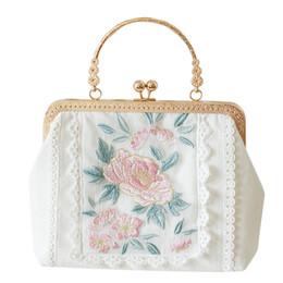 2020 sacchetto di spalla del fiore nero Fiore Pannello Borsa delle donne di modo Borsa Ragazza nera del messaggero delle signore del ricamo spalla larga tracolla Borse sconti sacchetto di spalla del fiore nero