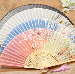 lg he4 baterias Desconto Atacado chinesa antiga de bambu dobrar fã de verão ao ar livre tomada dos esportes Cool Fan dobrar presentes étnicos criativas