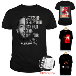 b74d48a4 NIPSEY HUSSLE VICTORY LAP TOUR High Quality 100% Cotton T-shirts Big Kids  Teenagers mens designer t shirts family matching outfits SS164